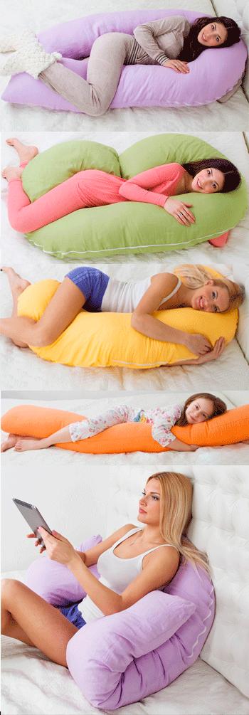 Как выбрать форму подушки для беременных