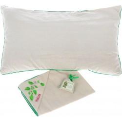 """Ароматный подарок """"Традиция здоровья"""" подушка льняная с наволочкой с вышивкой и Ароматравой"""