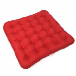 Подушка на стул из гречихи Комфорт Лето Биоподушка Красное