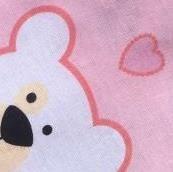 Бязь Мишки розовые
