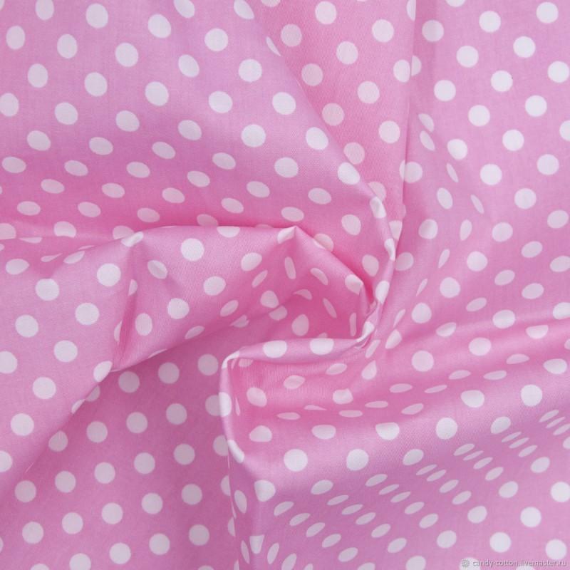 Бязь Розовый Горох
