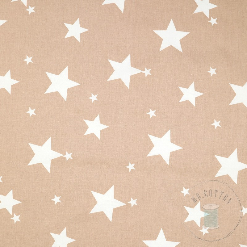Бежевые Звезды Трикотаж